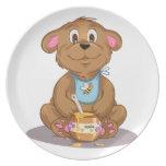 Honey Bear Children Plate
