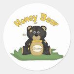 Honey Bear Classic Round Sticker