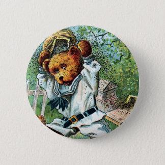 Honey Bear Harry - Letter H - Vintage Teddy Bear Pinback Button