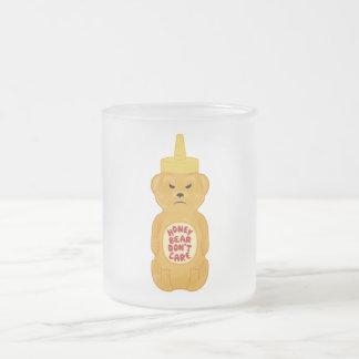 Honey Bear 10 Oz Frosted Glass Coffee Mug
