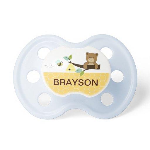 Honey Bear Personalized Baby Pacifier