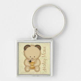 Honey Bear Personalized Keychain