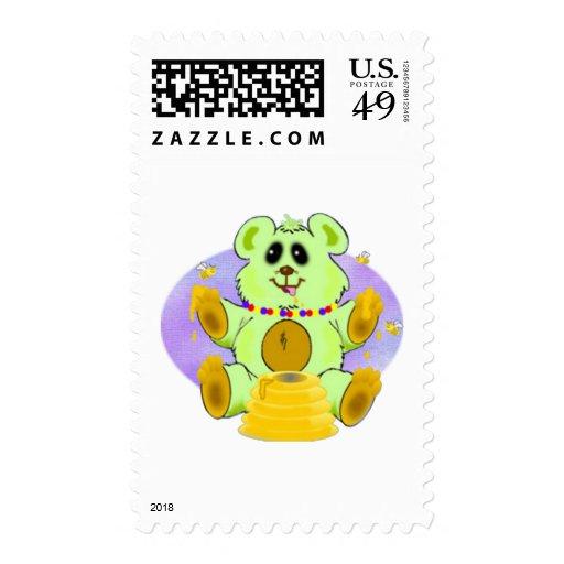 Honey Bear Postage Stamp