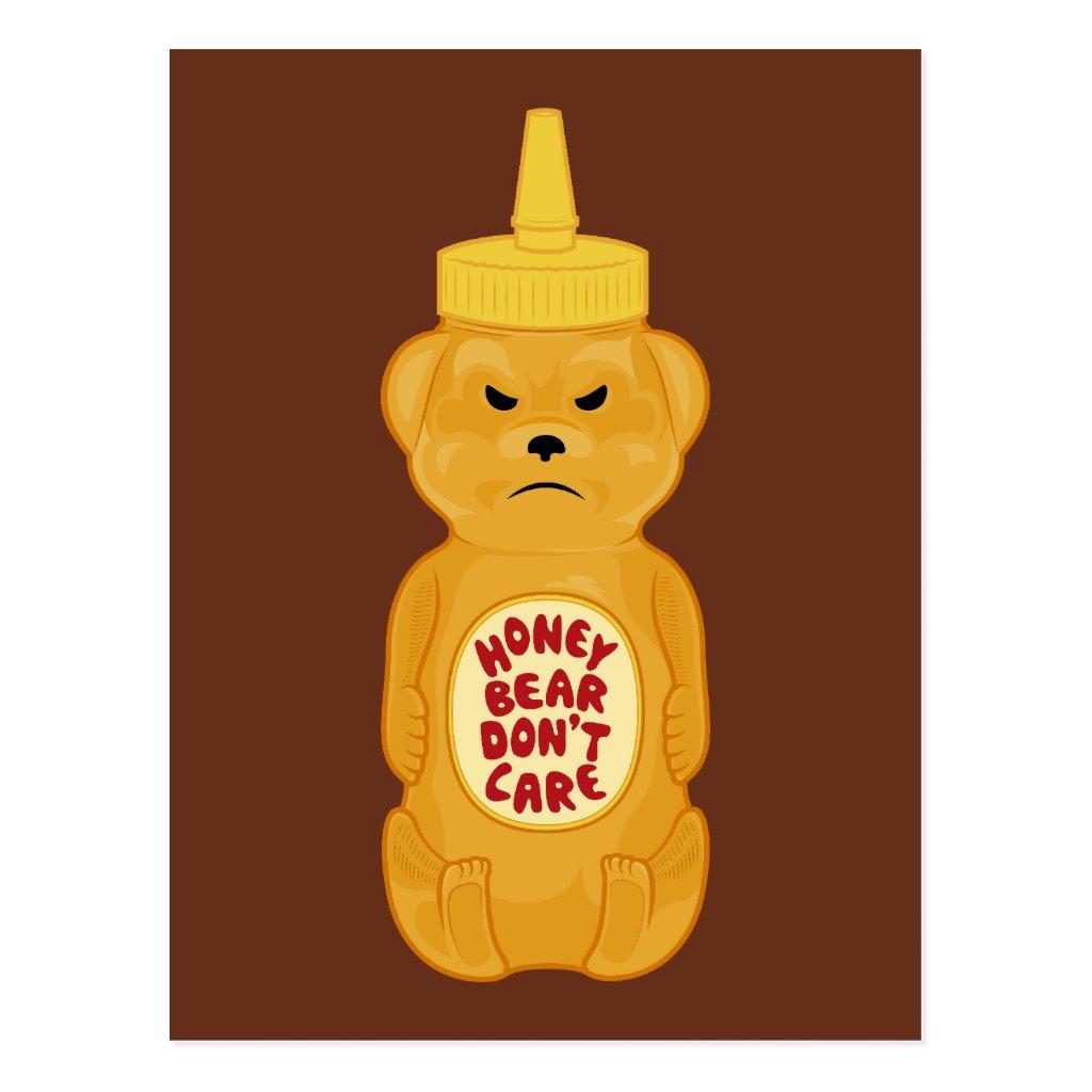 Honey Bear Postcard  Zazzle Honey Bear Illustration