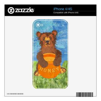Honey Bear Skin For iPhone 4S