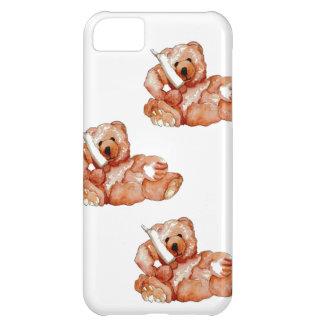 Honey Bear Talking on Phone Teddy Bear Pink Purple iPhone 5C Cases
