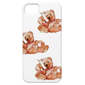 Honey Bear Talking on Phone Teddy Bear Pink Purple iPhone 5 Case