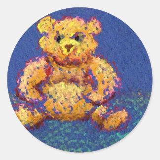 Honey Bear Teddy Bear CricketDiane Cute Bears Classic Round Sticker