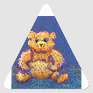 Honey Bear Teddy Bear CricketDiane Cute Bears Triangle Sticker