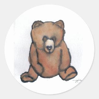 Honey Bear Thinking - CricketDiane Designer Stuff Classic Round Sticker