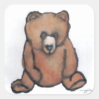 Honey Bear Thinking - CricketDiane Designer Stuff Square Sticker