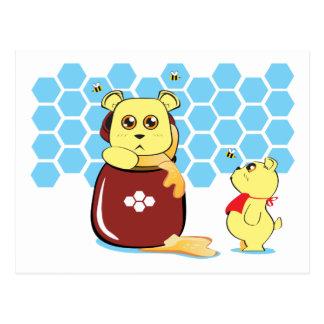 Honey Bears Postcard
