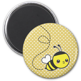 Honey Bee 2 Inch Round Magnet