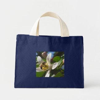 Honey Bee and Lemon Blossom Totebag Bag