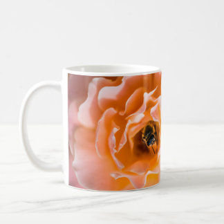 Honey Bee and Pink Rose Mug
