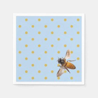 Honey Bee  and Polka Dots Napkin