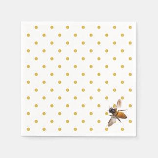 Honey Bee and polka-dots Paper Napkin
