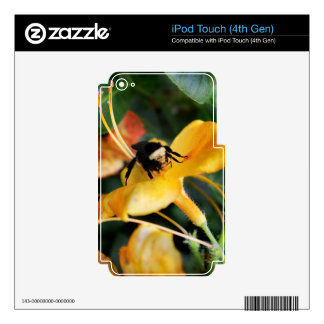 Honey Bee and Tiger Lily Decal For iPod Touch 4G