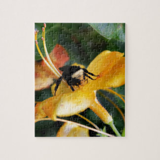 Honey Bee and Tiger Lily Jigsaw Puzzle