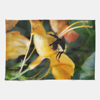 Honey Bee and Tiger Lily Kitchen Towel