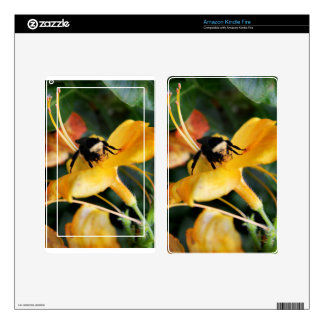 Honey Bee and Tiger Lily Kindle Fire Decals