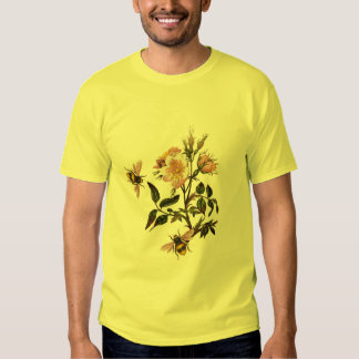 HONEY BEE AND WILD ROSES ,BEEKEEPER T SHIRTS