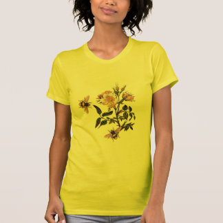 HONEY BEE AND WILD ROSES ,BEEKEEPER TEES