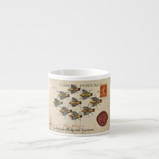 Honey Bee Antique Post Card Espresso Cup