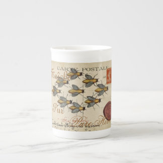 Honey Bee Antique Post Card Flemish French Tea Cup