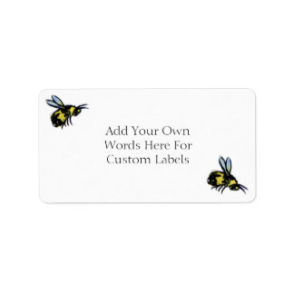 Honey Bee Art Custom Insect Decals or Labels