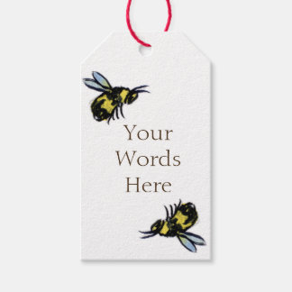 Honey Bee Art Custom Insect Gift Tags or Labels