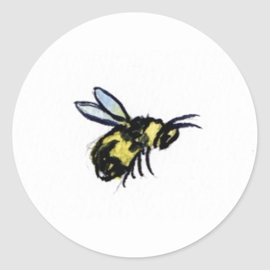 Honey Bee Art Painting Label Stickers