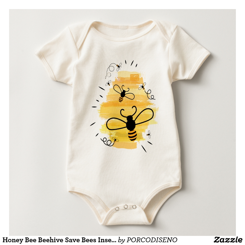Honey Bee Beehive Save Bees Insect Naturalist Baby Bodysuit - Adorable Baby Bodysuit Designs