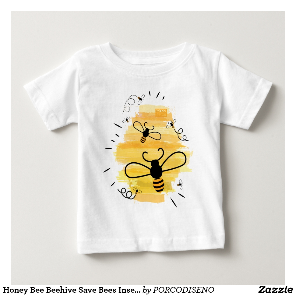 Honey Bee Beehive Save Bees Insect Naturalist Baby T-Shirt - Soft And Comfortable Baby Fashion Shirt Designs