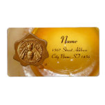 HONEY BEE ,BEEKEEPER APIARY WAX SEAL PERSONALIZED SHIPPING LABELS