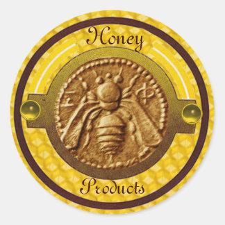 HONEY BEE / BEEKEEPER BEEKEEPING CLASSIC ROUND STICKER