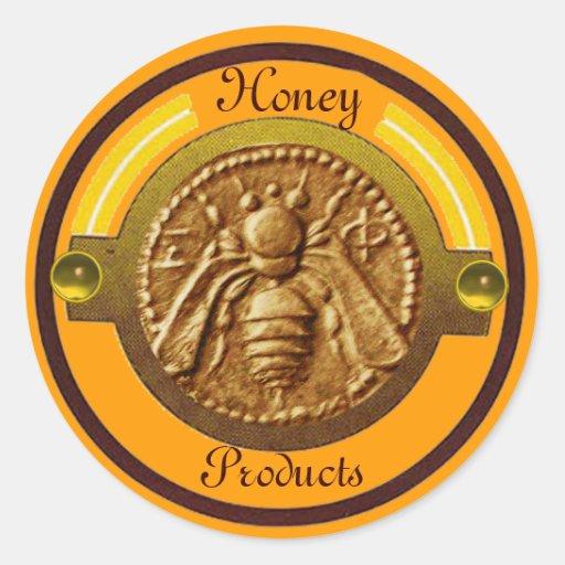 HONEY BEE / BEEKEEPER BEEKEEPING ROUND STICKERS