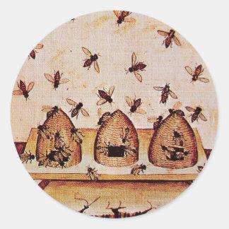 HONEY BEE, BEEKEEPER BEEKEEPING SUPPLIES CLASSIC ROUND STICKER