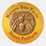 HONEY BEE / BEEKEEPER BEEKEEPING SUPPLIES ROUND STICKER