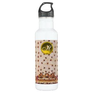 HONEY BEE ,BEEKEEPER,Gemstone Monogram Water Bottle