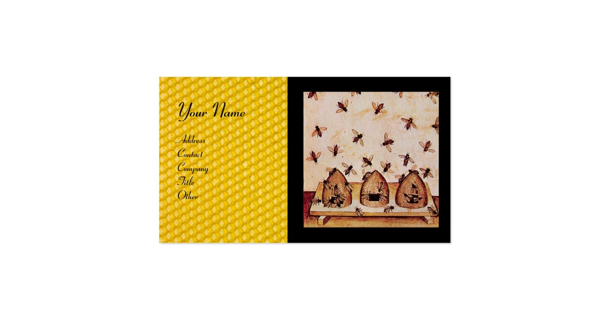 Honey bee beekeeping business card zazzle for Bee business cards