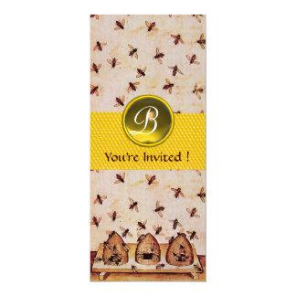 HONEY BEE ,BEEKEEPING Monogram Card