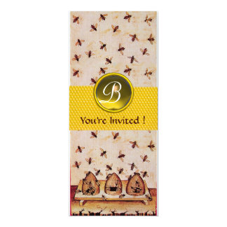 HONEY BEE ,BEEKEEPING Monogram Custom Announcements