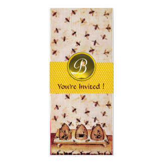 HONEY BEE ,BEEKEEPING Monogram Invite