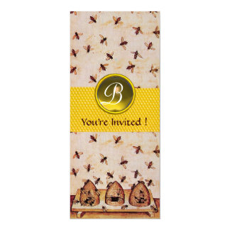 HONEY BEE ,BEEKEEPING Monogram Custom Announcement