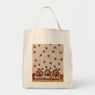 HONEY BEE BEEKEPER TOTE BAG