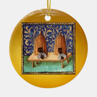 HONEY BEE, BEEKEPER BEEKEEPING APIARIST CERAMIC ORNAMENT