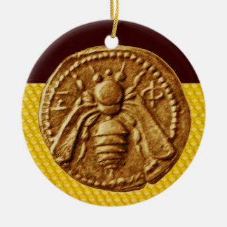 HONEY BEE, BEEKEPER CERAMIC ORNAMENT