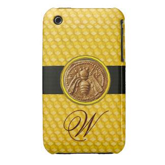 HONEY BEE, BEEKEPER MONOGRAM iPhone 3 Case-Mate CASES