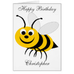 Honey Bee Birthday Card Just Add Name